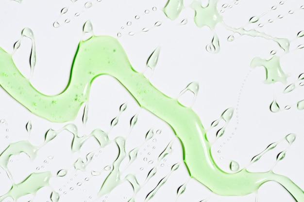 Dribble of green water
