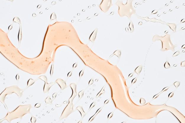 Dribble of orange water