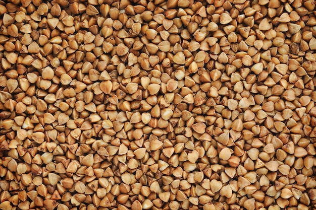 Dried buckwheat horizontal background