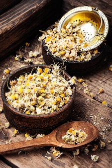 Dried chamomile buttons