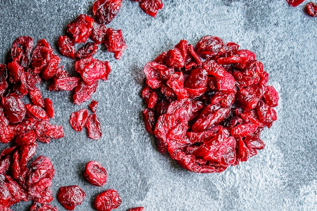 Dried cherry or cranberry sweet berries