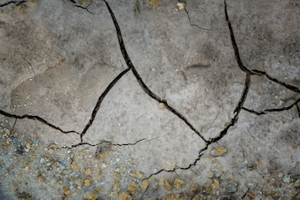 Dried cracked earth soil ground texture background. Mosaic pattern of sunny dried earth so
