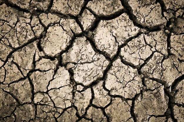 Dried cracked earth soil ground texture