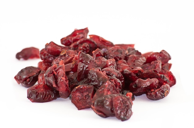 Dried cranberries close up
