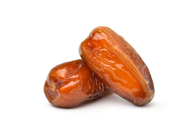 Dried date palm fruits isolated