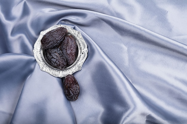 Dried dates on a plate