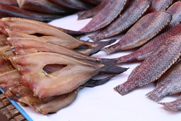 Dried fish at the market