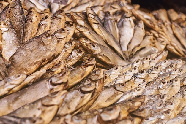 Dried fish in the store
