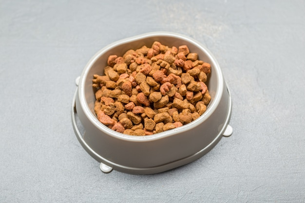 Dried food for dogs or cats.
