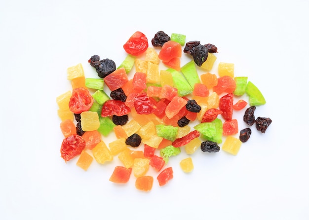 Dried fruits mix isolated