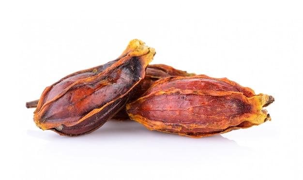 말린 치자 열매