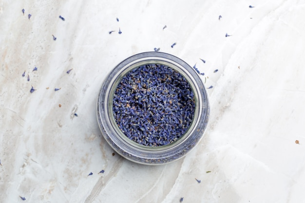 Dried lavender on the table