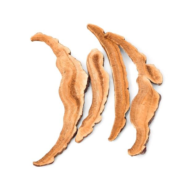 Сушеный гриб линчжи (также называемый грибом рейши в японии, линчеу в таиланде, гриб линчжи в китае, ganoderma lucidum karst или лакированный гриб)