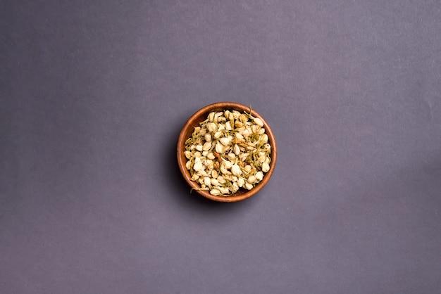 Dried mimosa petals: for tea, alternative medicine, pot-pourri.