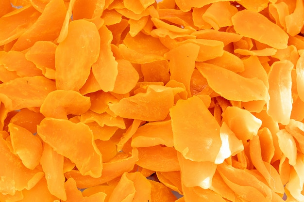 Dried orange fruit surface