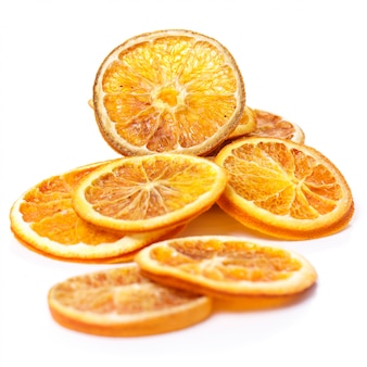 Dried orange on the table