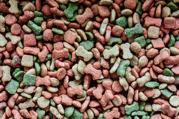 Dried pellet dog food