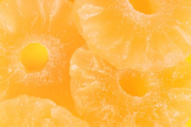 乾燥パイナップルフルーツ背景