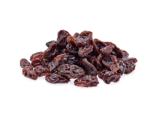 Dried raisins isolated