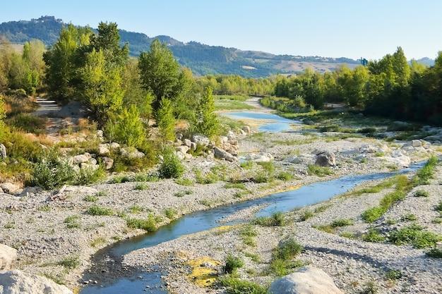 Высохшая река в италии