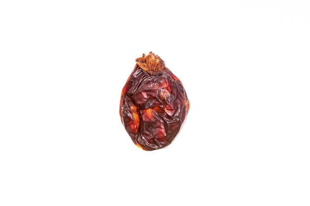 Dried rose hips isolated on white background. high quality photo