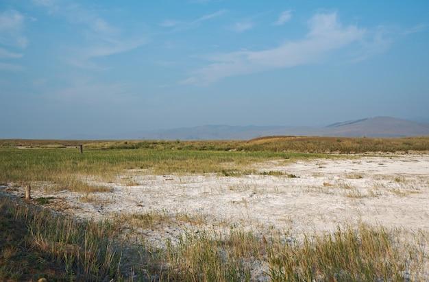 마른 소금 호수, barguzin 계곡, buryatia