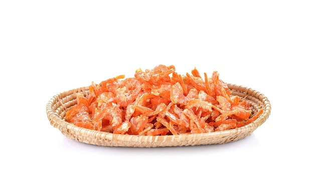 Dried shrimp on white