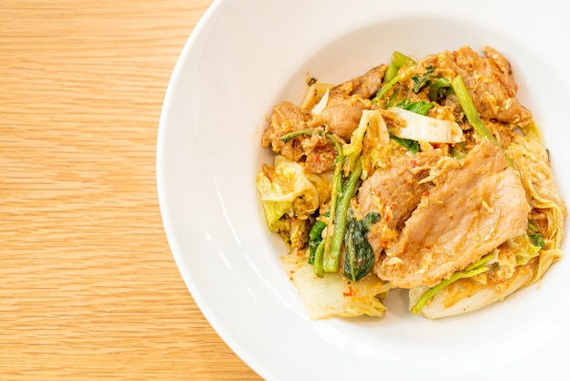Dried sukiyaki - stir-fried vermicelli with vegetables and pork in sukiyaki sauce