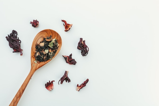 Dried tea heaped teaspoonful