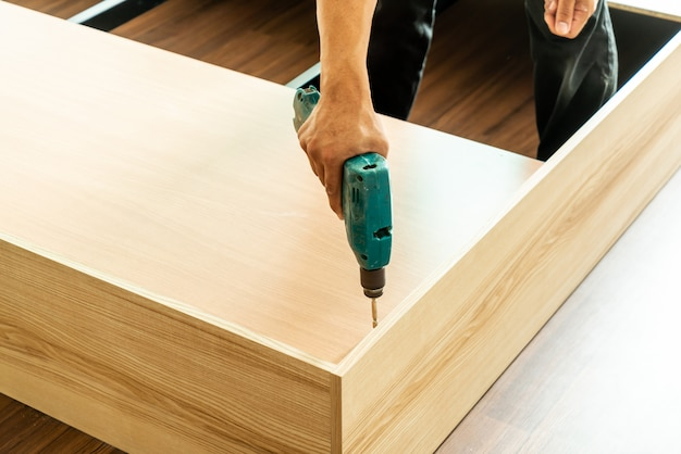 Drill for making furniture