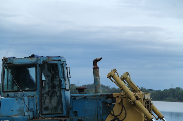 Drilling dredging machine largest, isolated.