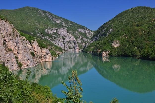Drina river in bosnia and herzegovina
