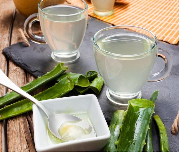Drink aloe vera and honey.