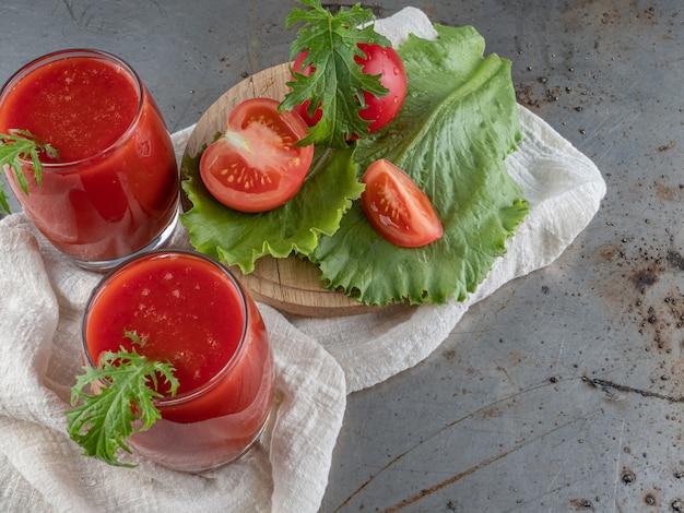 Drink fresh tomato.
