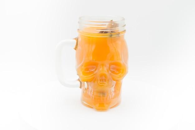 Drink for halloween pumpkin, apple, cinnamon and star anise