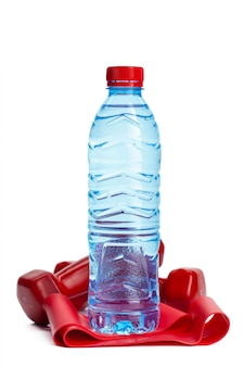 Drinking water concept. bottle of water isolated