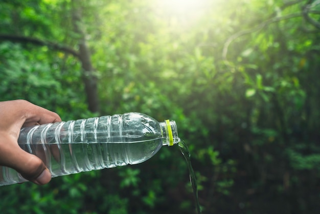 Drinking water and natural green