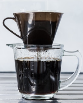 Drip coffe with plastic filter