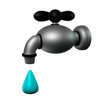 滴る蛇口イラスト3dグラフィックス