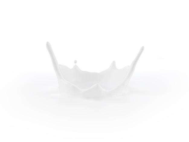 ミルクのしずく広告製品画像の組み立て用3dイラスト