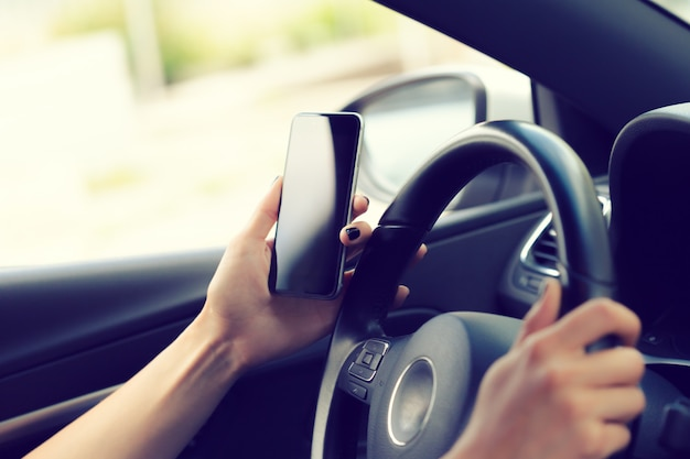 Driver with a cell phone