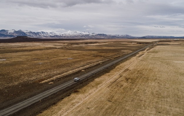 Driving on the icelandic roads, exploring iceland