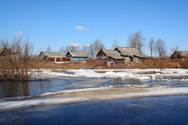 Катание по льду по реке