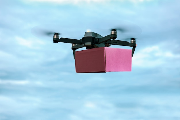 Drone carrying mail box for fast air delivery.