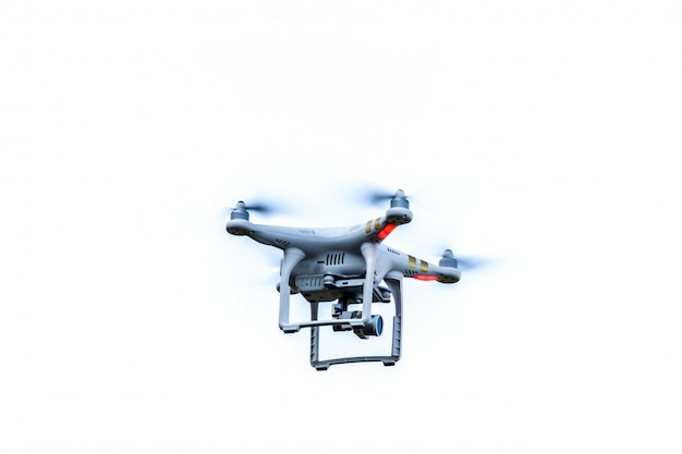 Drone hovering isolated