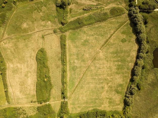 Drone view of the landscape near teddy bear woods, weymouth, dorset
