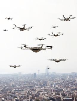 Drones invasion background