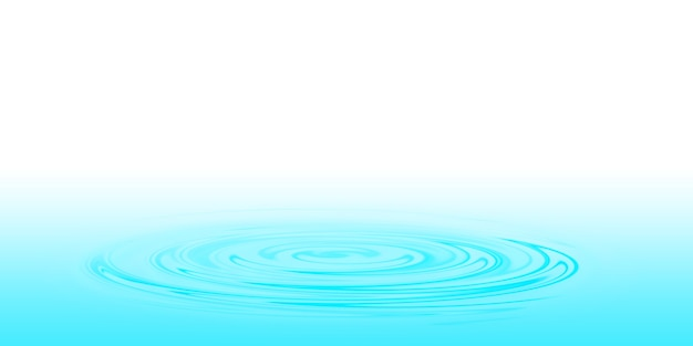 A drop of blue water on the surface of the water 3d illustration