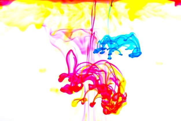 Drop ink color in the water, colour background, smoke texture