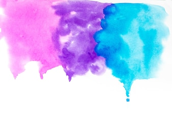Drop of pink ,blue,purple colorful watercolor texture background.